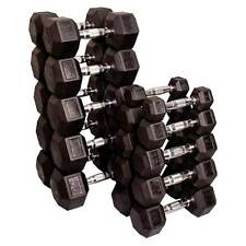 Body Solid Rubber Coated Hex Dumbbell Set