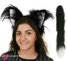 CLASSIC CAT EARS AND TAIL SET SCHOOL BOOK WEEK FANCY DRESS COSTUME ACCESSORY KIT
