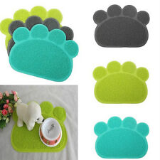 Lovely Paw Shape PVC Placemat Dog Puppy Pet Cat Dish Food Water Bowl Mat Pads