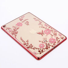 Silm Crystal Diamond Clear Silicone Electroplating Case Cover for iPad Air 2 & 6