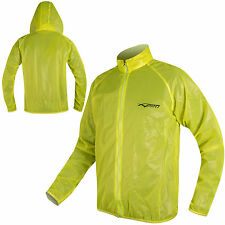 Motorcycle Motorbike Rain Coat Over Jacket Waterproof Windproof Fluo Hi Vis