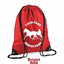 Horse Riding Pony Trap String Bag Rider Personalised Horseriding Equestrian H13
