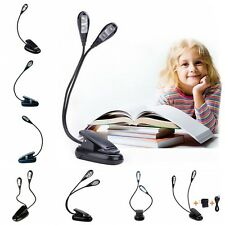 Single/Dual Arms LED reading light Adjustable Rechargeable Clip-on Clamp Lamp