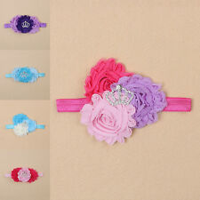 Kids Baby Infant Girl Toddler Flower Headband Hairband Crown Bow Hair Accessory