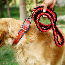 Popular Pet Dog Nylon Collar Leash Braided Pet Chain Rope For PET Big Dogs