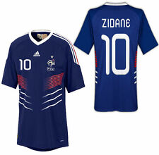 ADIDAS ZINEDINE ZIDANE FRANCE HOME JERSEY FIFA WORLD CUP SOUTH AFRICA 2010.