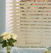 "2"" DELUXE BASSWOOD (REAL WOOD) BLINDS 33 7/8"" WIDE x 37"" to 48"" LENGTHS"