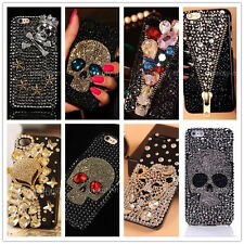 Fashion Skull 3D Bling Diamond Crystal Rhinestone Case Cover For iPhone/Samsung