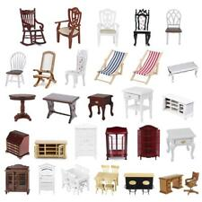 1/12 Scale Wooden Table Chair Cabinet for Dolls House Miniature Furniature Acce