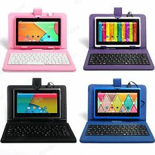 XGODY 7'' HD Screen Quad Core 16GB Android 4.4 Tablet PC Bundled Keyboard Case