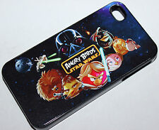 Custom Angry birds Starwars iphone 4 4s 5 5s case cover