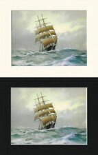 The Clipper Leander Launched 1867 - Derek Gardner Mounted Ship Print