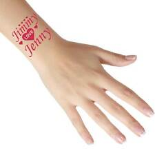 Personalised Temporary Love Tattoos - Add Any Name/Text - Great For Parties