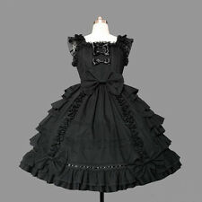 Ladies Sweet Lace Layerd Gothic Lolita Princess Dress Cosplay Costume