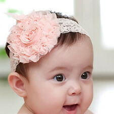 Best Girl Toddler Hairband Infant Kid  Headdress Big Flower Lace Bow Accessories