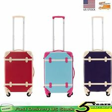 Wheeled Spinner Suitcases Luggage Trolley Case Cabin Travel Carry on Rolling Bag