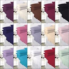 Plain Dyed colored Single or Double Bed Fitted Sheet PolyCotton or pillow cases