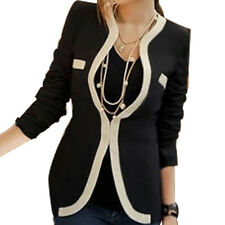 Women Business Suit Jacket Blazer Casual Slim Coat Casual Outwear V-Neck New