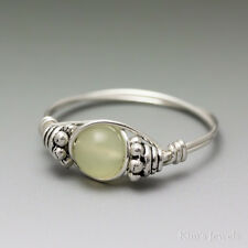 New Jade Bali Sterling Silver Wire Wrapped Bead Ring