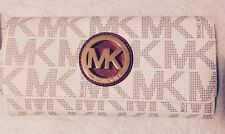 NEW Michael Michael Kors Signature Fulton Flap Continental Wallet