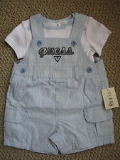 Guess Jeans Shorts 6 9 M Tee Top Romper Coverall Overall Boy's FREE Ship NWT