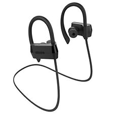 Bluetooth Headphones Earbuds Stereo Noise Sweatproof with Mic Bass Sound - Black