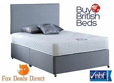 Divan Bed With Mattress King Size 5FT Deluxe Vogue Repose Gel 1000 Pocket Sprung