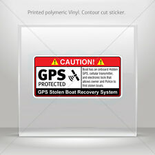 Decals Decal Gps Protected Prevention Sign Boat Vehicle st5 X4W7X
