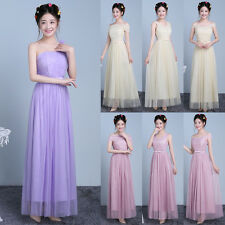 Women Formal Wedding Bridesmaid Long Evening Party Prom Gown Cocktail Dress Bow