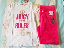 Juicy Couture Kids Queen of Sugar Tee & Velour Crown Logo Pant NWT Sz 12 14 XL