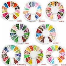 120pcs Decal Ornament Pedicure Nail Art Tips Manicure Wheel Fimo Decoration