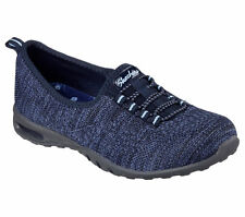 22980 Navy Skechers Shoes Memory Foam Women Comfort Sporty Casual Slip On Loafer