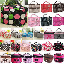 Womens Ladies Cosmetic Make Up Bag Portable Toiletry Case Holder Organizer Pouch