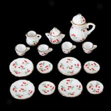 1/12 Scale Dolls House Miniature Dining Ware Porcelain Coffee Tea Dish Cup Set