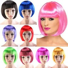 Short BOB Synthetic Hair Wigs Multi Color Full Wig Cosplay Fancy Dress Thick S36