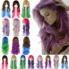"24"" Synthetic Hair Wig Long Curly Full Wigs Cosplay Halloween Fancy Dress US Wig"