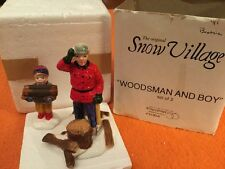 Dept. 56 ~ Snow Village ~ Woodsman and Boy ~ #5130-6 Accessory