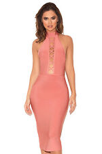 HOUSE OF CB 'Taavi' Rose Lace Up Bandage Dress 'FAULTY' SS 5482