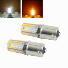 2-Pack Ba15s LED Bulb 12V Single Contact SBC Ba15s 1156 1141 1073 1093 1129 LED