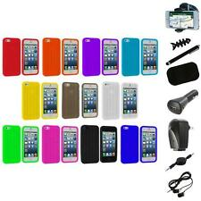 Tire Treads Color Silicone Rubber Skin Case Cover+8X Accessory for iPhone 5 5S