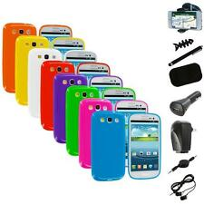 TPU Jelly Solid Rubber Case Cover+8X Accessory for Samsung Galaxy S III S3 i9300