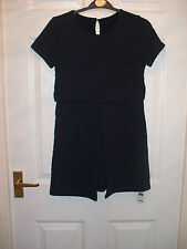 GORGEOUS DUNNES GIRLS NAVY BLUE TIERED WAFFLE DESIGN DRESS AGE 9/10 *BNWT*