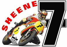 T SHIRT BARRY SHEENE 7 LUCKY BIKE NUMBER SEVEN RACING BIKER MOTORCYCLE MOTO GP