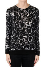 BALENCIAGA New woman Black White Virgin Wool Sweater Made in Italy NWT