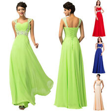 Sequin/Chiffon Long Prom Dress Party Wedding Gown Formal Cocktail Evening Dress