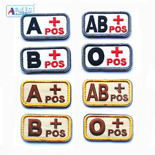 Tactial Military A B AB O+ Blood Type Positive Embroidered Thread Patches Hot