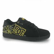 DC Shoes Character Skate Shoes Juniors Black/Yellow Trainers Sneakers Footwear