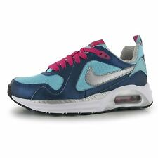 Nike Air Max Trax Trainers Junior Girls Blue/Silver/Pink Sports Shoes Sneakers