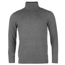 Kangol Roll Neck Knit Jumper Mens Charcoal Sweater Pullover Top