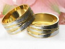 SALE MENS OR WOMENS  2TONE 18KT GOLD PLATED  8MM WEDDING BAND  YGB33  WIDE